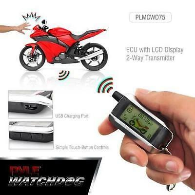 PYLE Watch Dog Motorcycle Security Alarm System (Autostart/2 LED Remotes)