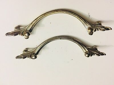 Antique Vintage French Provincial Metal Drawer Cabinet Pull Handle Knob