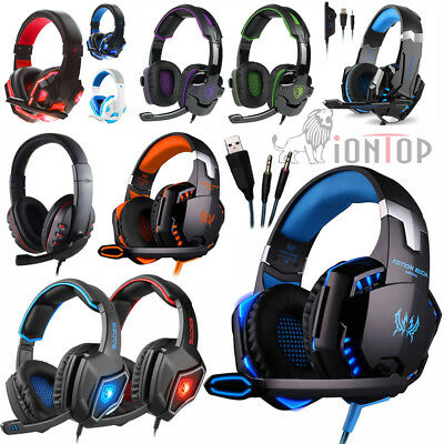 3.5mm Gaming Headset Mic Headphone Stereo Surround for PS3 PS4 Xbox ONE PC Phone
