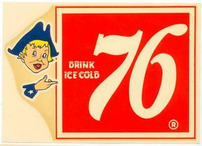 old Drink Ice Cold 76 soda decal - looks to date to the 1950s