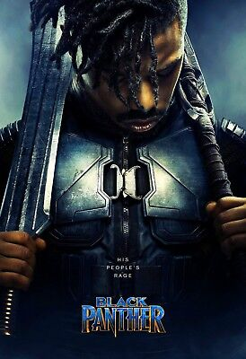 Wall 40 24x36in Poster P14 Art Black Panther Movie Print Chadwick man