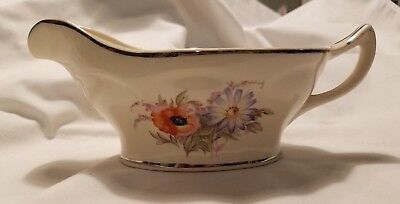 Universal Potteries Orange Poppy Gravy Boat, Mount Vernon Shape