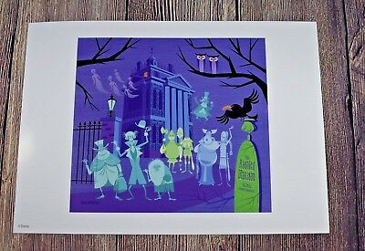 Disney Parks Walt Disney World Haunted Mansion HM 40th Anniversary SHAG Print