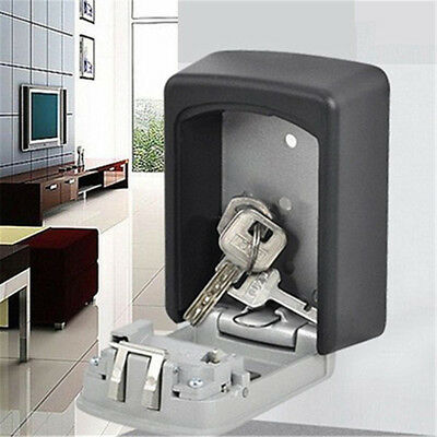 High Digit Wall Mount Box Safe Security Lock 4 Combination Secure Outdoor Key