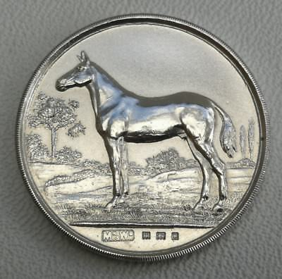 Vtg 1927 Mappin & Webb Olympia Horse Show Solid Silver Childrens Riding Medal