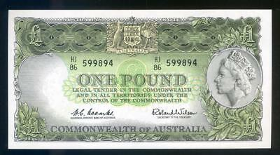 * 1961 Australian One Pound Banknote Coombs/Wilson aUNC - HJ86 599894