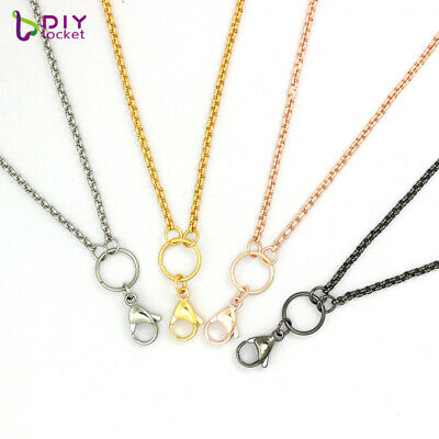 10pcs 26/30 inch Stainless steel Rolo Chain Necklace Fit Floating Lockets