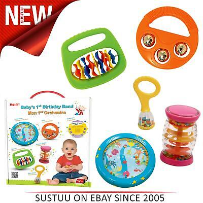 Halilit Baby's First Birthday Band Set│Musical Instrument Gift Set│Music-CD&Toys