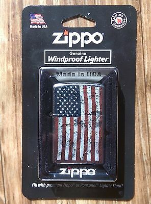 Zippo Lighter  Distressed American Flag , # 207 , BRAND NEW, FREE SHIPPING!