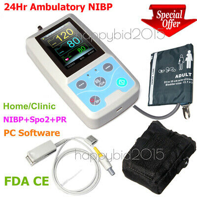 24-hour Ambulatory Blood Pressure patient Monitor software SPO2 6 cuffs --- PM50