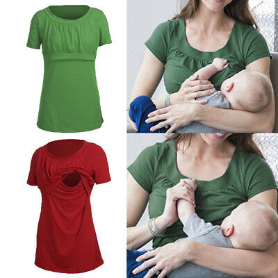 Women Pregnant Maternity Clothes Nursing Top Breastfeeding Loose Blouse T-Shirt