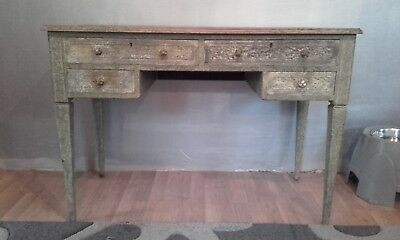 Antique Victorian Painted Scumbled Writing Desk / Dressing Table.