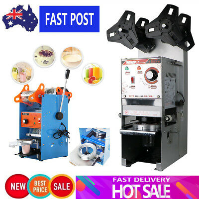 MECO Automatic/Manual Cup Sealer Sealing Machine Coffee Bubble Tea 400-500Cup/hr