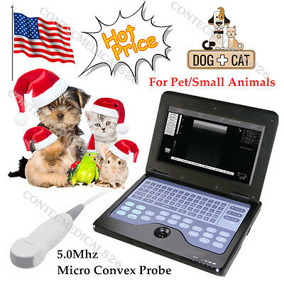 USA Veterinary Laptop Ultrasound Scanner Machine With 5.0Mhz Micro Convex Probe
