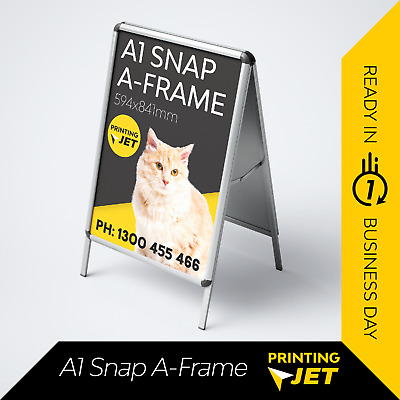 A1 Double Snap A Frame Board Display Sign Poster Stand [Sandwich Board]