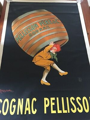 Ancienne Affiche Original Litho COGNAC PELLISSON CAPPIELLO 1908 120 X 80 Cm