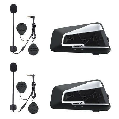 2pc Suaoki T9S Bluetooth Helm Sprechanlage Gegensprechanlage Helm Kommunikation