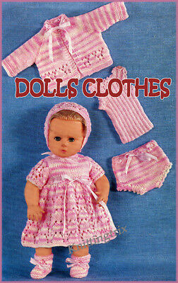 Baby Doll Outfit - 6 Pieces-  Vintage Knitting Pattern