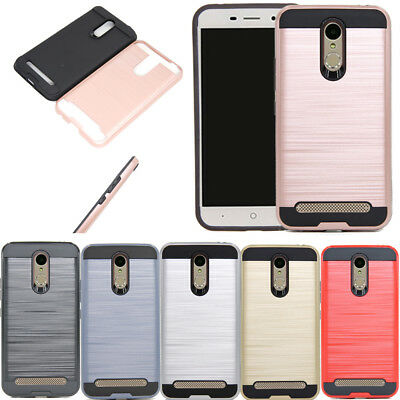 Hybrid Brush Armor Case Shockproof Cover For Telstra 4GX Premium/ZTE Blade A602