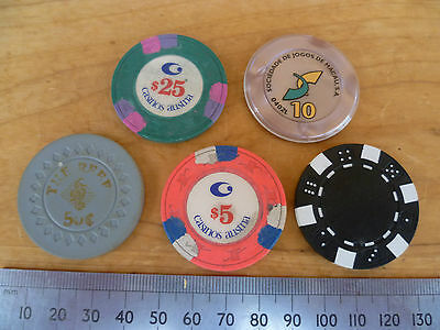 Vintage Old Mixed Lot Of Casino, Gambling Chips, Tokens (495)