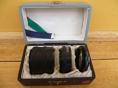 Vintage Old Rondo Extension Tube, Lenses Set 3 In Box