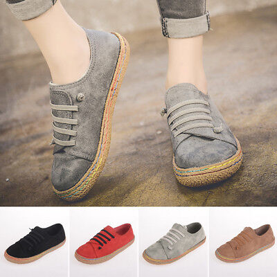 ee613dfdb2e Women Suede Slip On Soft Loafers Lazy Casual Flat Shoes Outdoor Moccasins  Retro