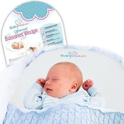 Baby Wishes Universal Bassinet Wedge Incline Pillow for Better Baby Sleep