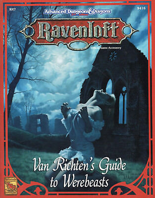 RAVENLOFT Van Richten's Guide to Werebeasts *TOP-Neu !*