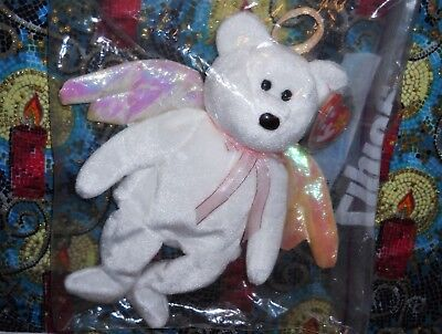 Cute TY Beanie Baby HALO BEAR Plush Bean Bag Toy ~ NEW ~ With Tags ~ In Bag!