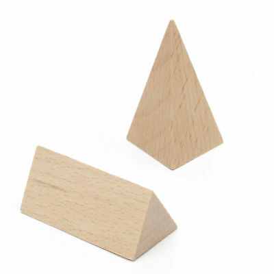 10pcs/set Kids Wooden Geometric Shape Solids Learning Block Math Puzzle Toy