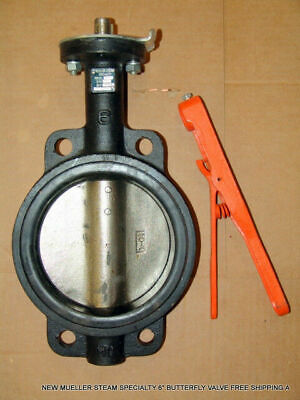 """New Mueller Steam Specialty 6"""" Butterfly Valve Free Shipping A"""