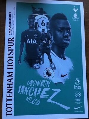 Tottenham Hotspur (Spurs) v Newcastle United Programme 9 May 2018
