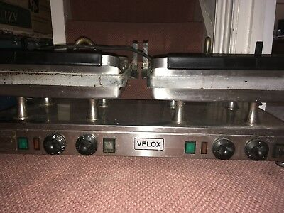 Velox - Silesia Double  Smooth Contact Grill Steak,panini, Burger Griddle