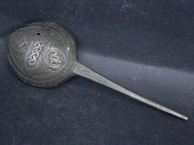 Ancient Large Size Bronze Inscrpted Spoon Islamic 1000 AD #GL1789