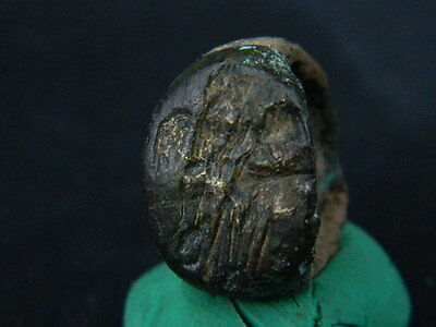 Ancient Bronze Seal Ring Bactrian 300 BC #BR1568