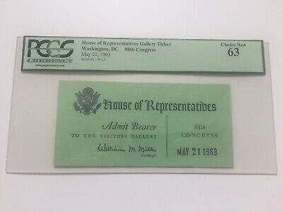 Astronauts Collectibles 1963 Astronaut Gordon Cooper Address To Joint Session Of Congress Ticket Pcgs 100% Guarantee
