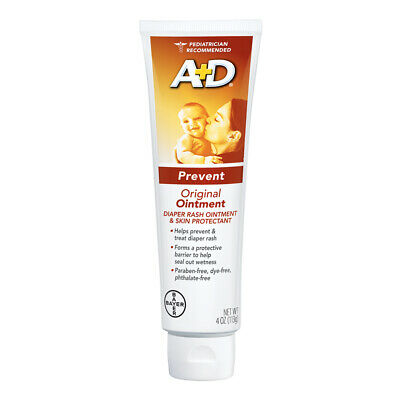 A&D Diaper Rash Ointment And Skin Protectant Original - 4 Ounce (Pack of 3)