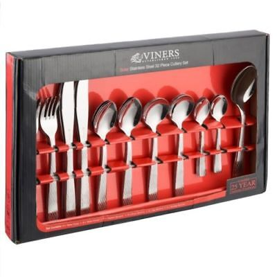 Viners Solar 32 Pcs Cutlery Set Boxed 18/0 Stainless Steel Set Dining Tablewar