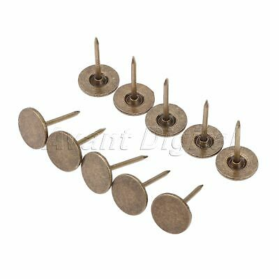 Furniture Hardware Flat Studs Tacks Pins Antique Bronze Upholstery Nails 100X