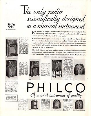 1932 Magazine Ad Philco Radio Advertisment  A200