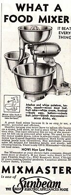 1932 MAGAZINE AD MIXMASTER by SUNBEAM ADVERTISMENT  A200