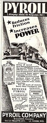 1932 Magazine Ad Pyroil Advertisment  A200
