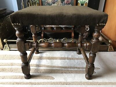 Antique Piano Dressing Table Desk Occasional Stool Vintage Retro Victorian