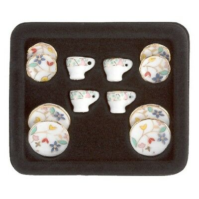 Dollhouse Miniature Table Setting - Ceramic - Assorted Sizes - 12 pieces