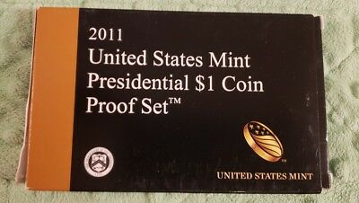 2011 S United States Mint Presidential $1 Coin Proof Set w/ BOX & COA #215