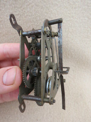 Small Vintage  A Frame Weight Driven Wall Clock Movement