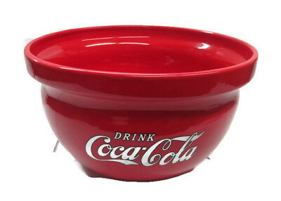 Coca-Cola  Batter Bowl Plant Bowl Ceramic Bowl Red with White Logo- BRAND NEW