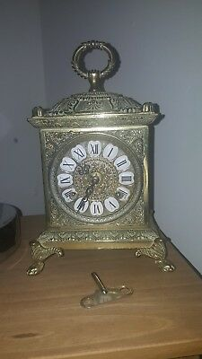 A Very Good Quality Brass Mantle Clock German Movement