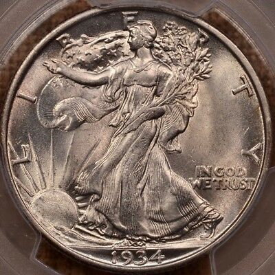 1934 Walking Lib half dollar, PCGS MS63, superb, orig PQ+  DavidKahnRareCoins