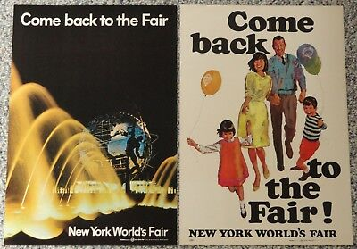 Lot of 2 Vintage 1964-65 New York World's Fair Advertising Posters